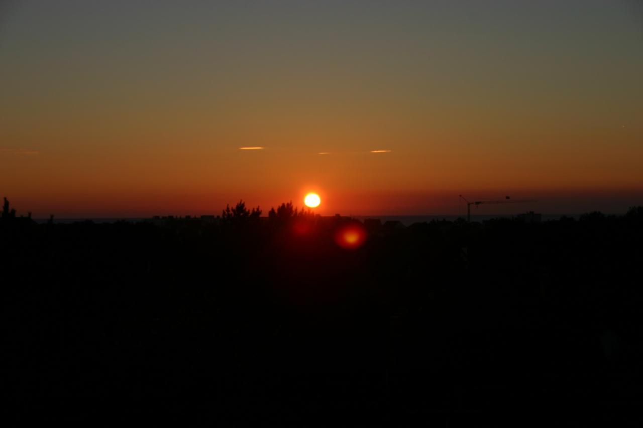 Couché de soleil à Hardelot (depuis la villa Les Agapanthes)